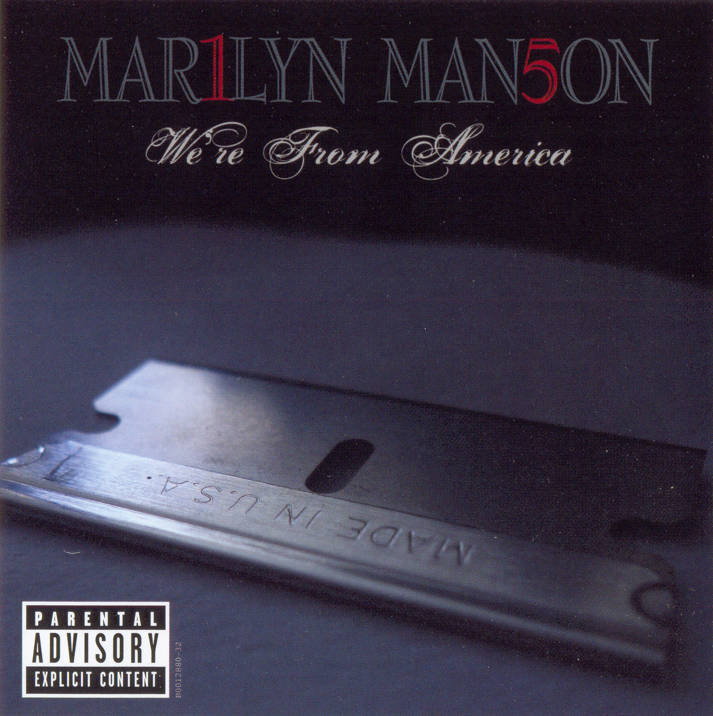 "Marilyn Manson ""We're From America"" CD single fonts"