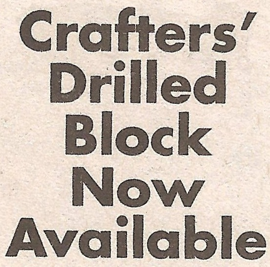 """Crafters' Drilled Block Now Available"" Font"