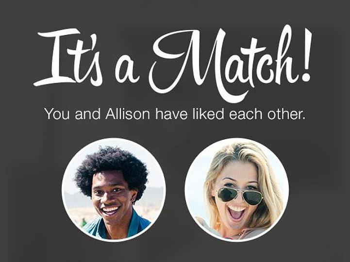 Tinder its a match template