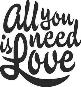 what font? All you need is love