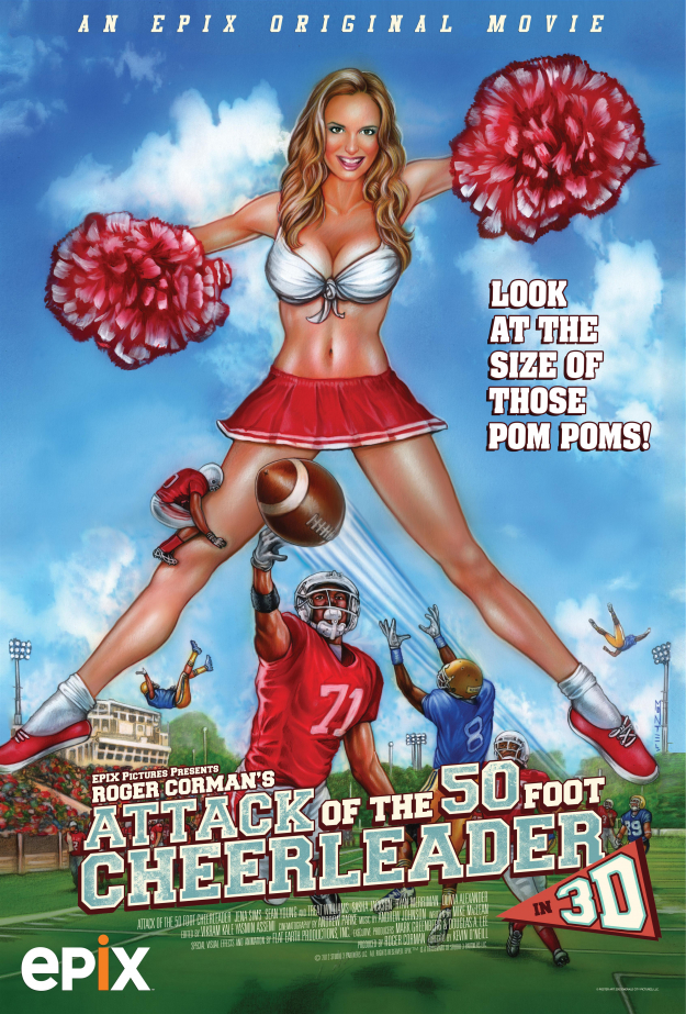 ATTACK OF THE 50 FOOT CHEERLEADER Font?
