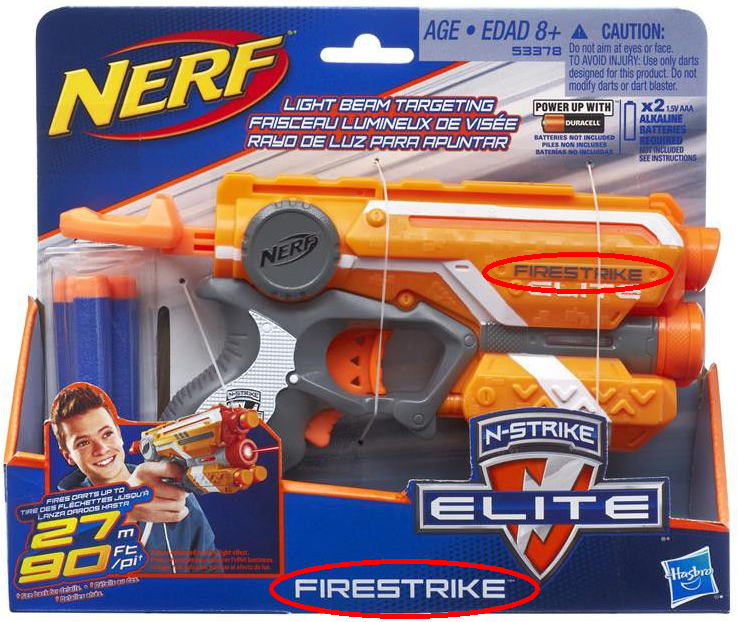 Have you seen the product name on the Nerf N-Strike Elite blaster?