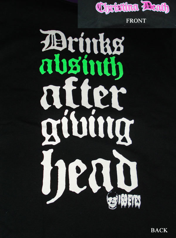 "69 Eyes 'Christina Death"" eroded gothic font"