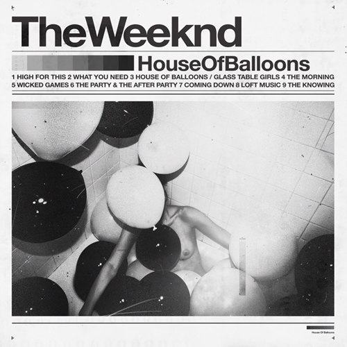 The Weeknd - House of Balloons font