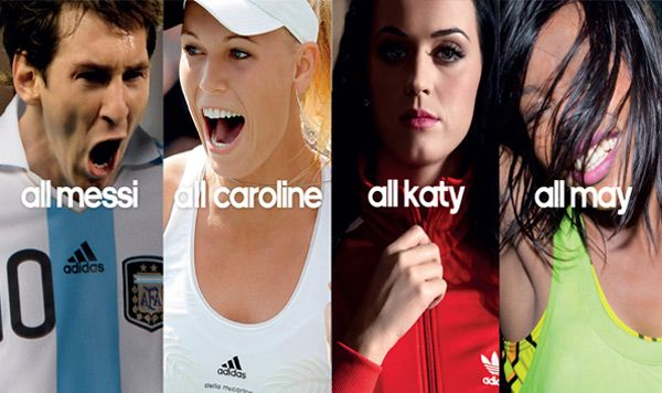 adidas is all in font