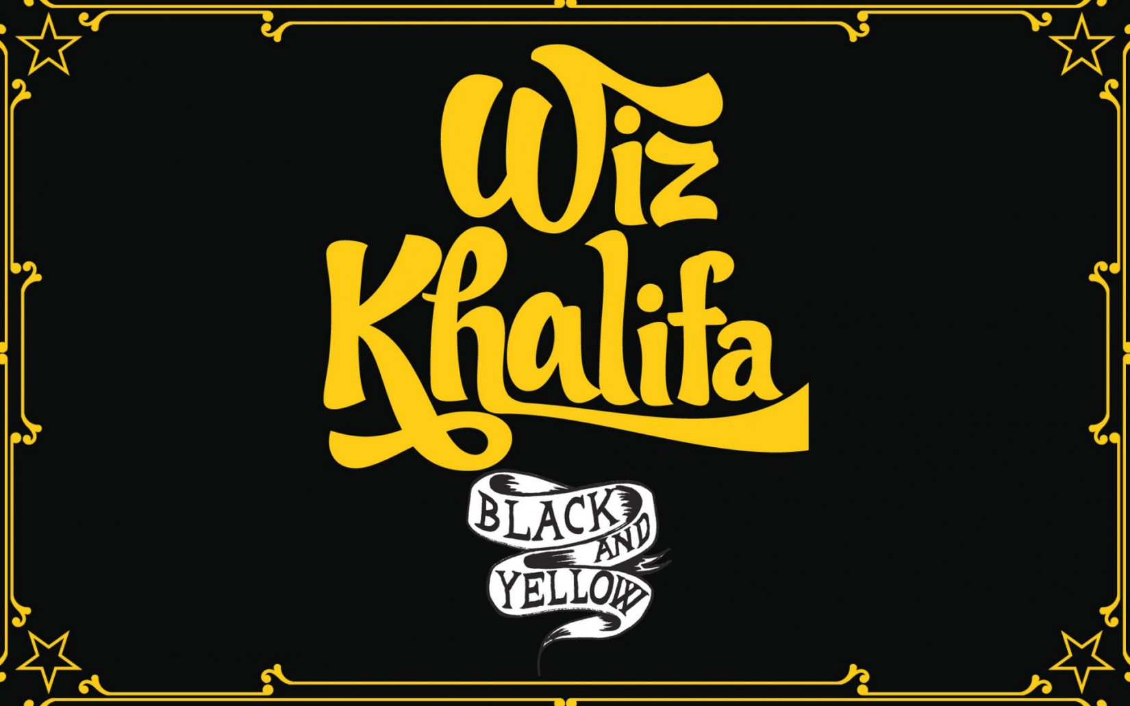 Wiz Khalifa Black and Yellow font