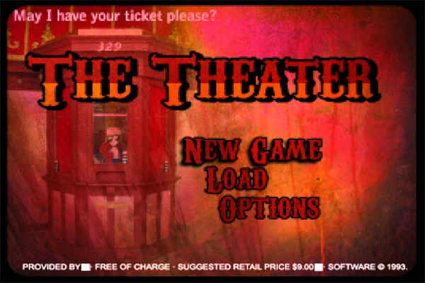 The Theater Creepypasta Game Screen Fonts?