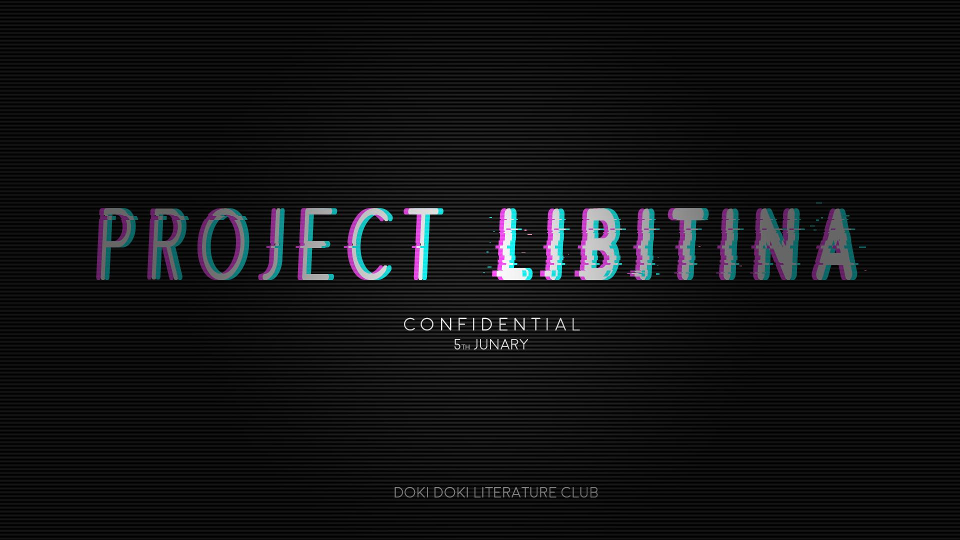 Project Libitina Confidential Fonts Forum Dafont Com Project libitina is the name of what is presumed to be an upcoming game by team salvato, though no confirmation of this has been made. project libitina confidential fonts