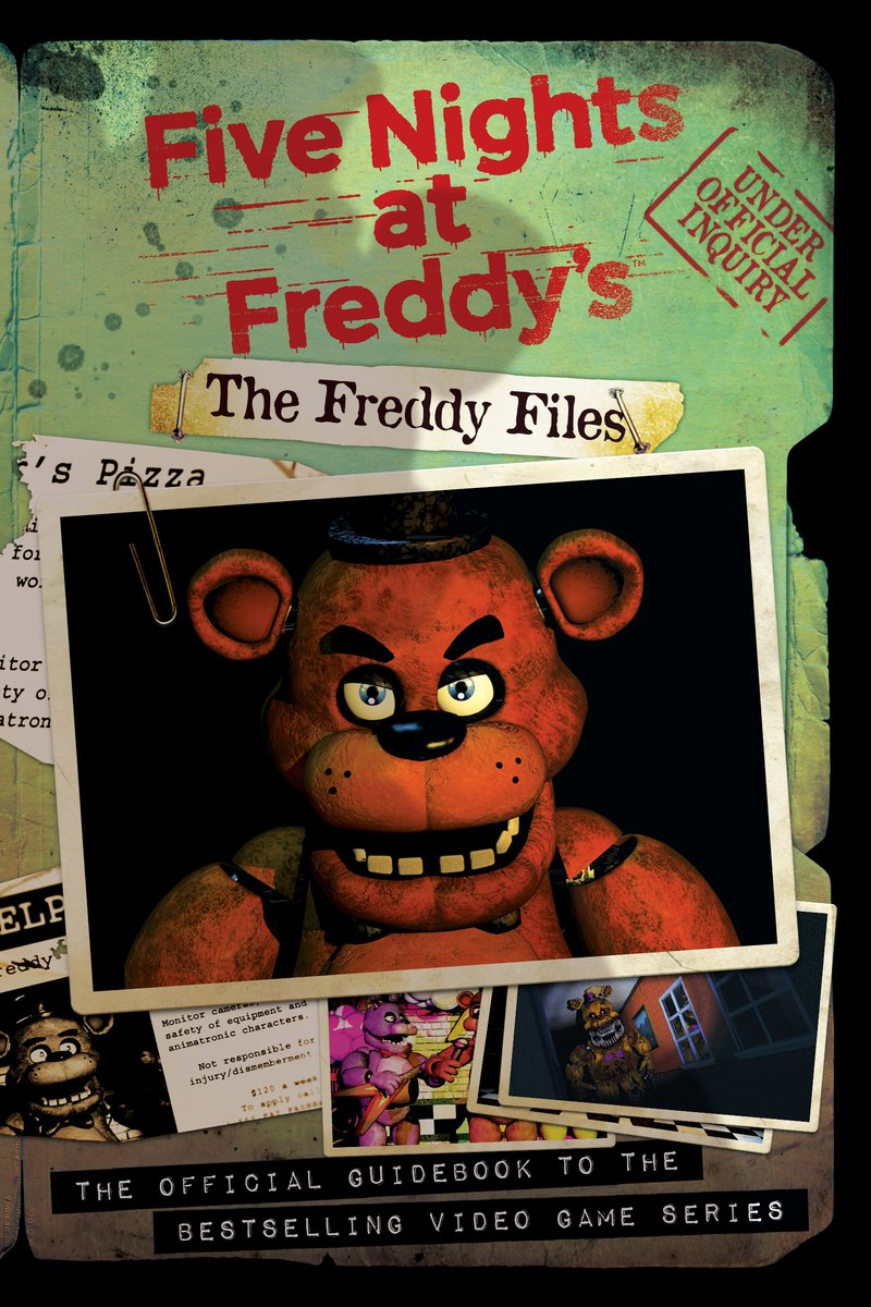 FNAF The Freddy Files Book Cover Fonts?