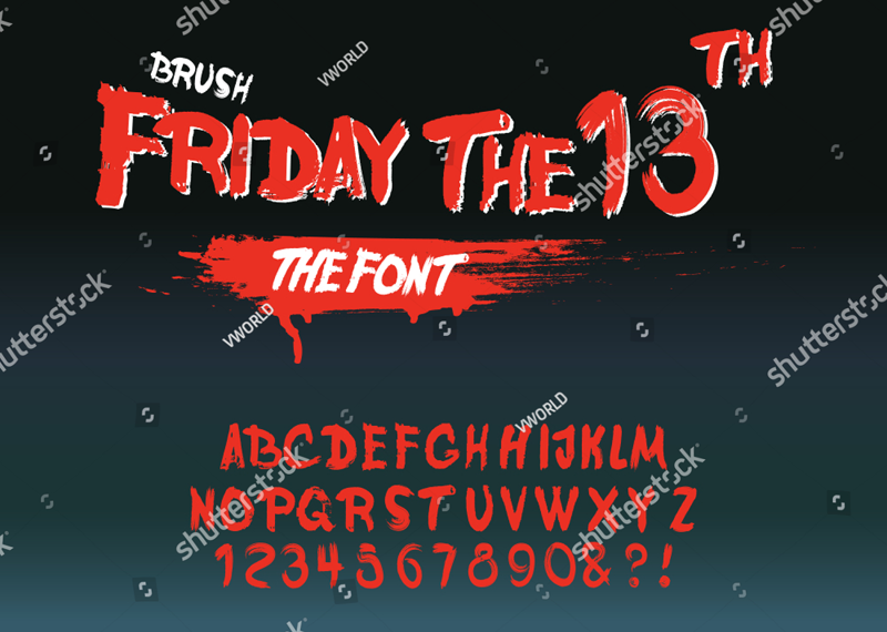 FRIDAY THE 13TH font?