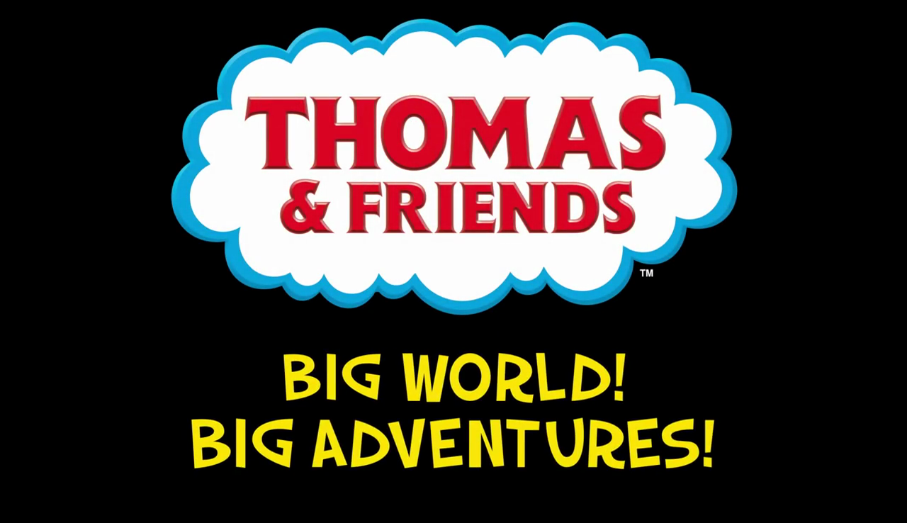 "What is the font for the ""Big World! Big Adventures"" caption in the end of Thomas & Friends Season 22 intro?"
