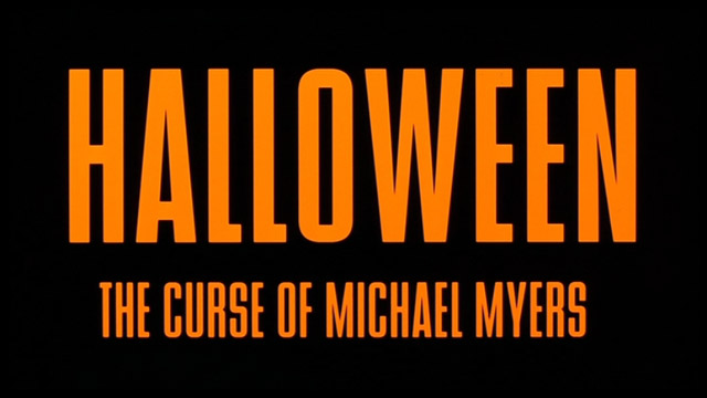 Halloween - The Curse of Michael Myers font