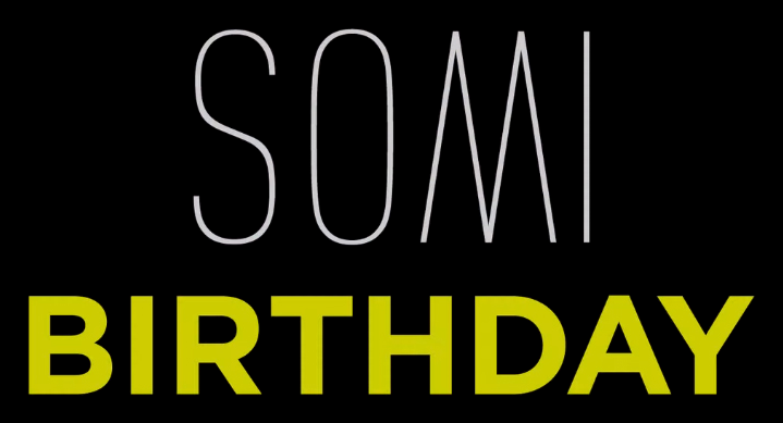 SOMI - BIRTHDAY fonts.