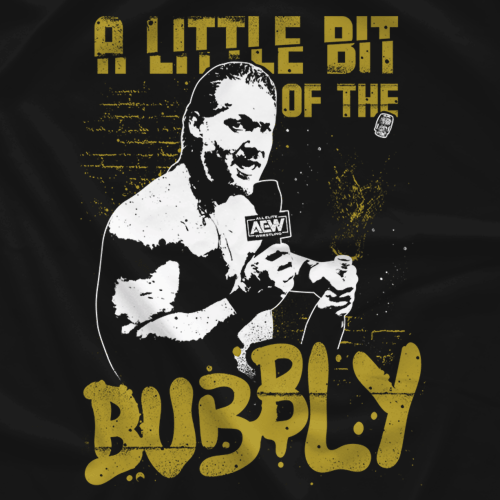 "Does anyone know the font for Chris Jericho's ""A Little Bit of the Bubbly"" shirt?"