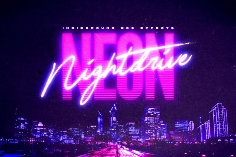 NEON TEXT OR NIGHTDRIVE TEXT FONT PLEASE