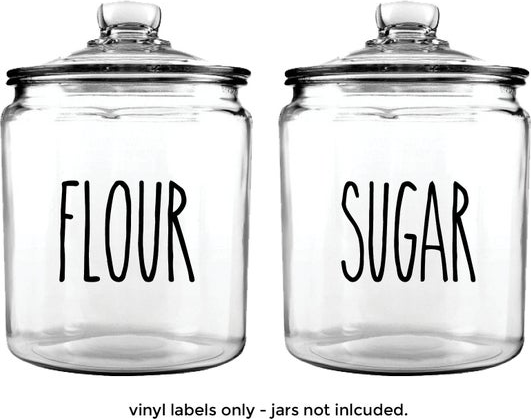 Flour and Sugar Jars