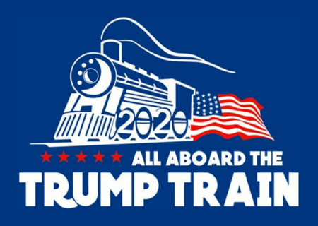 "can you tell me the fonts name here for ""TRUMP TRAIN""?"