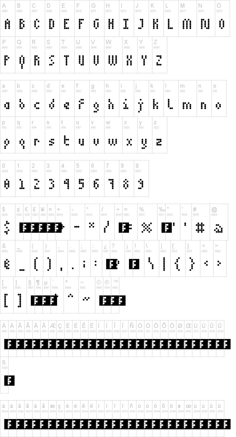 5 Dotmatrix 1979 Font
