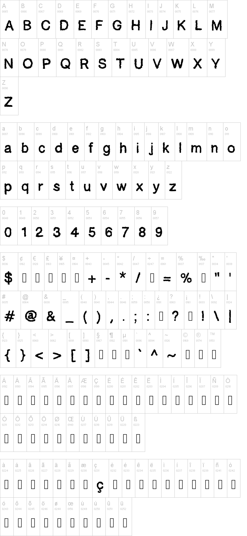 Ablocky Font