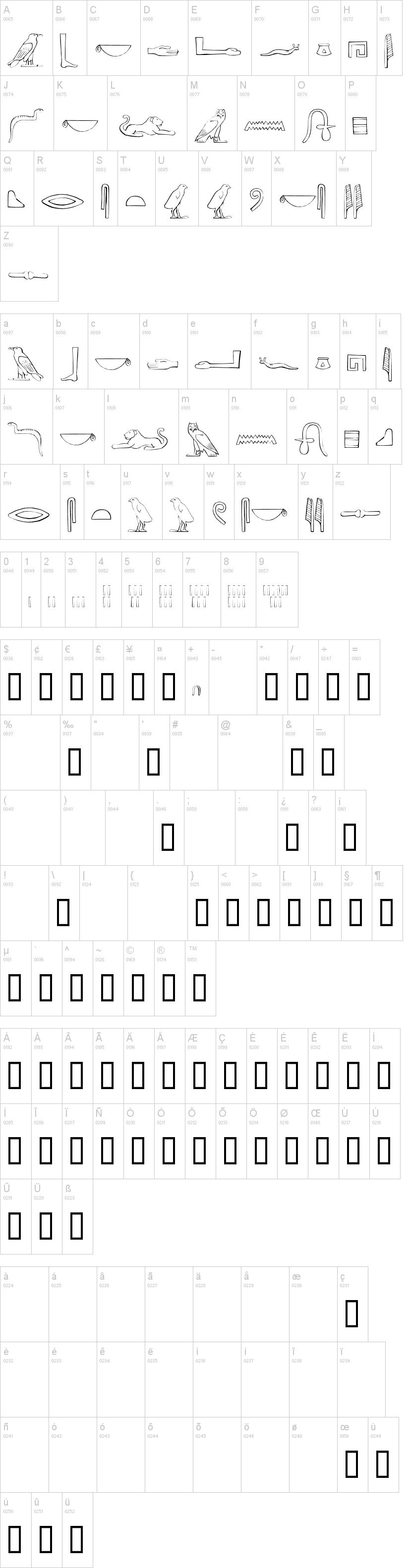 Ancient egyptian hieroglyphs font dafont ancient egyptian hieroglyphs buycottarizona