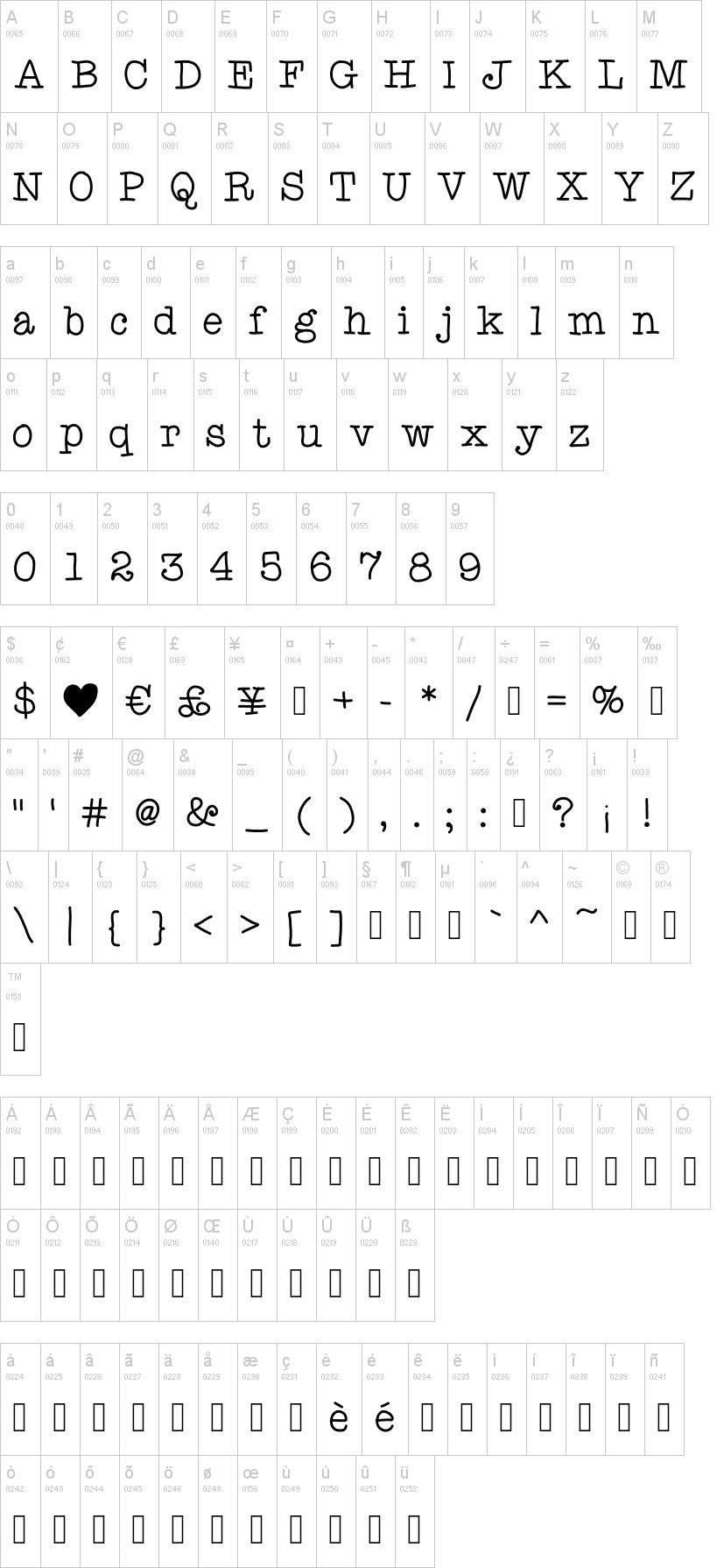Ani Typewriter Font | dafont com