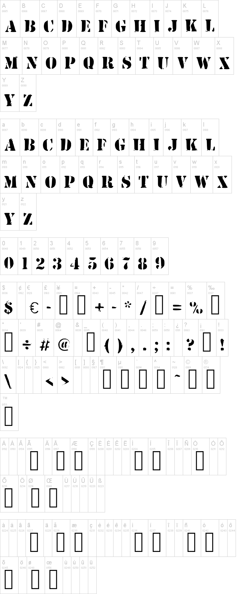 Army Stamp Font