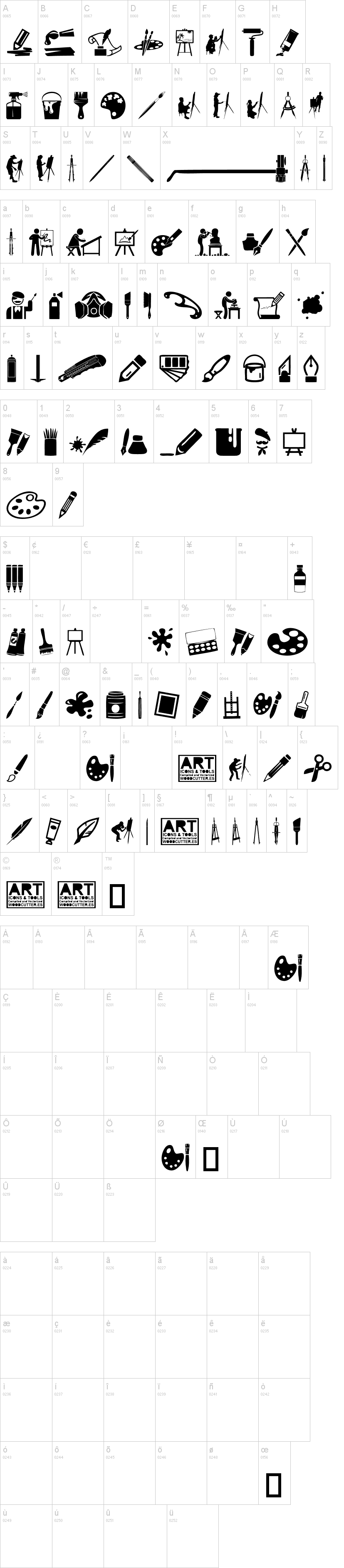 Art Icons and Tools