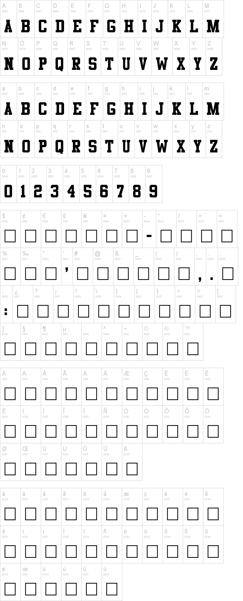 athletic font