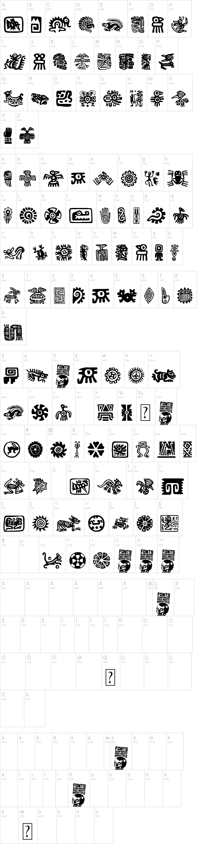 Aztecs Icons