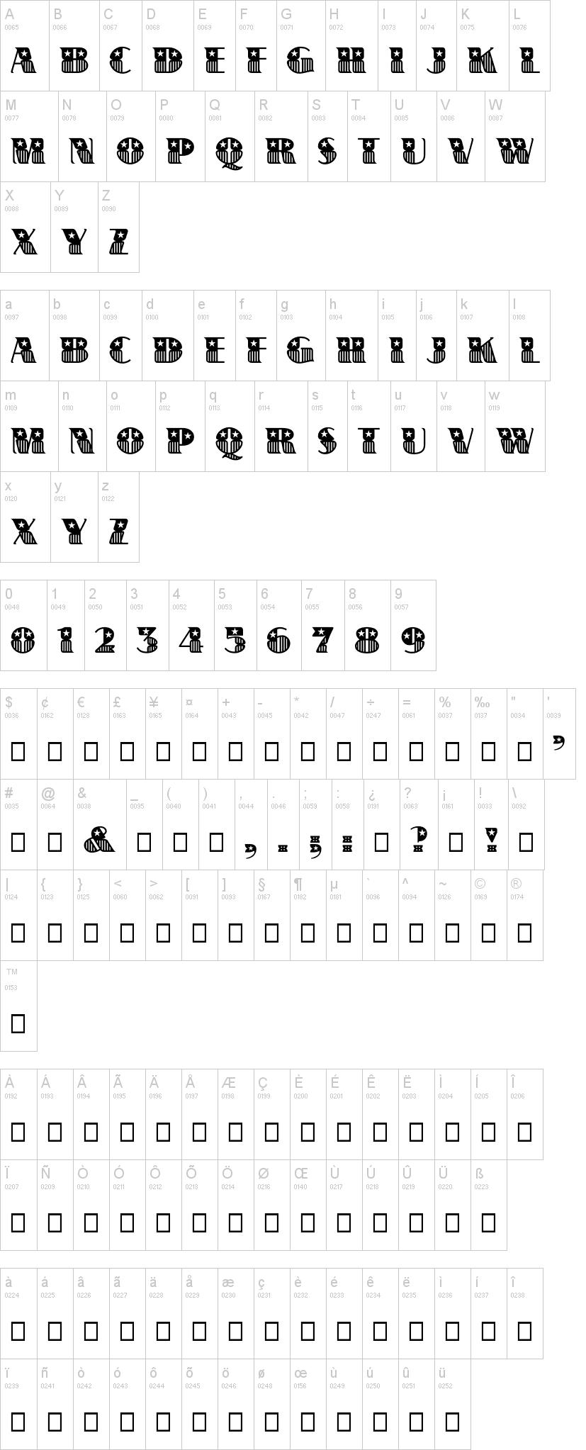 Banner Star Font Dafont
