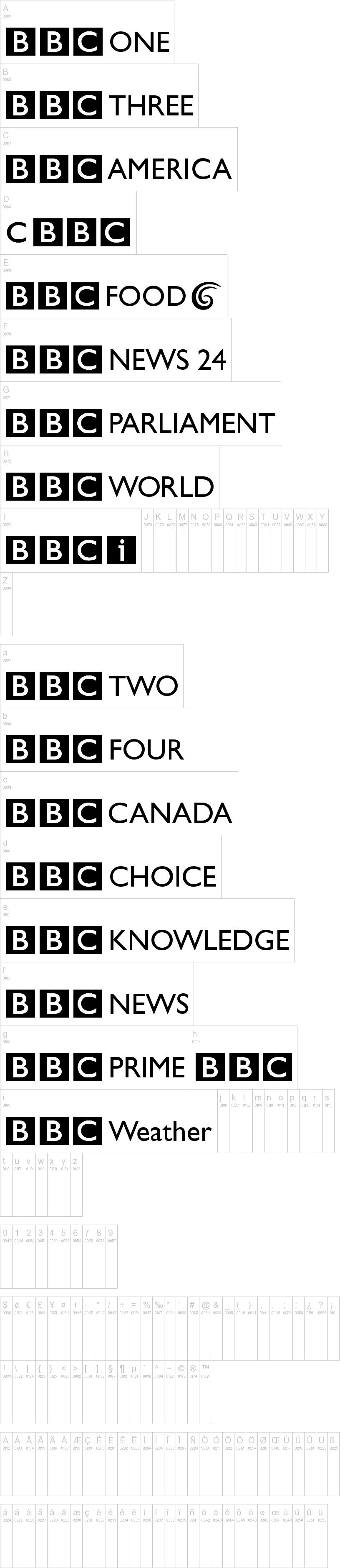 BBC logos Font | dafont com