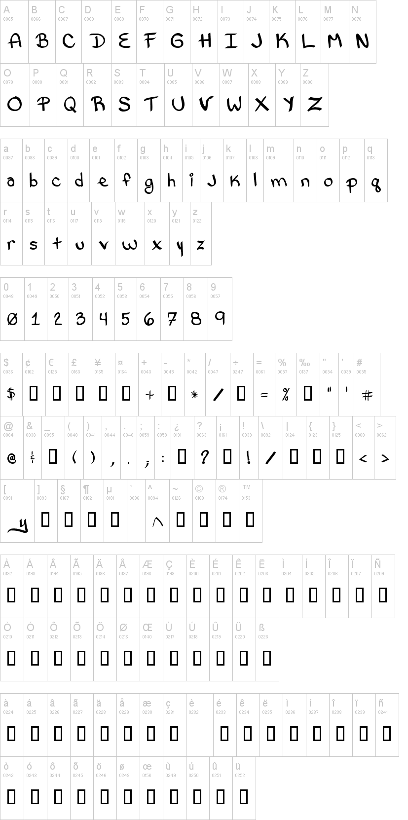 Bethany Style Letters