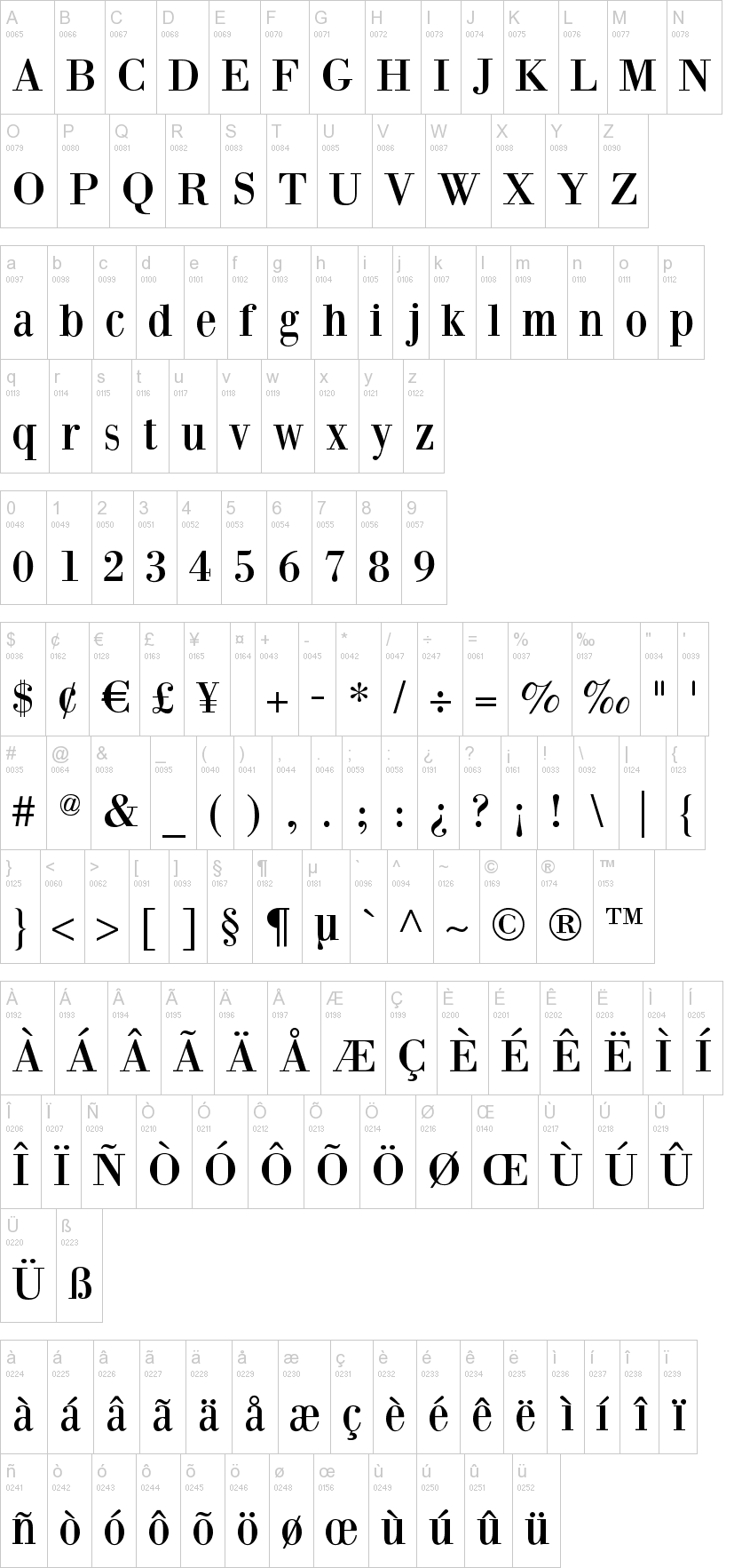 bodoni font family free download