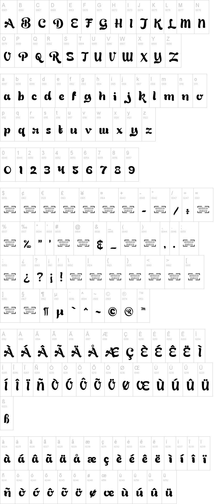bready clockwise font