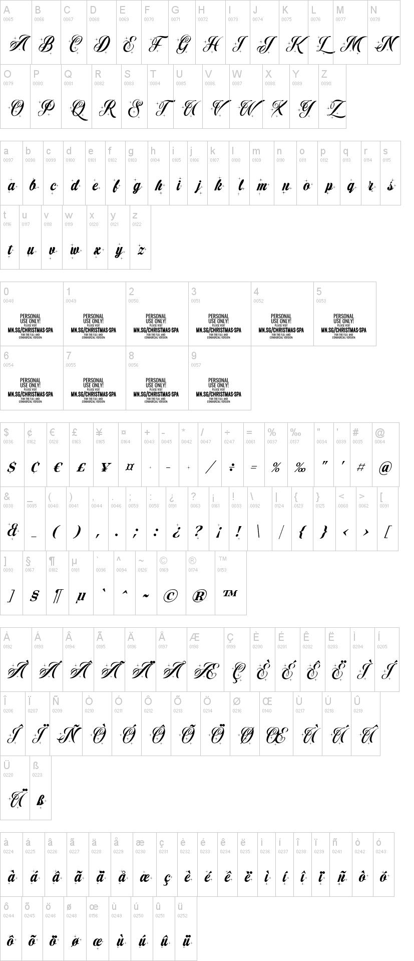 Christmas Sparkle Font