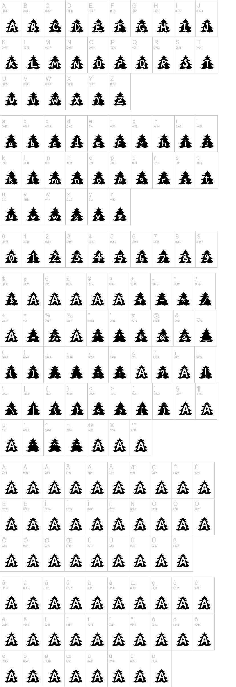 Christmas Tree Font | dafont.com