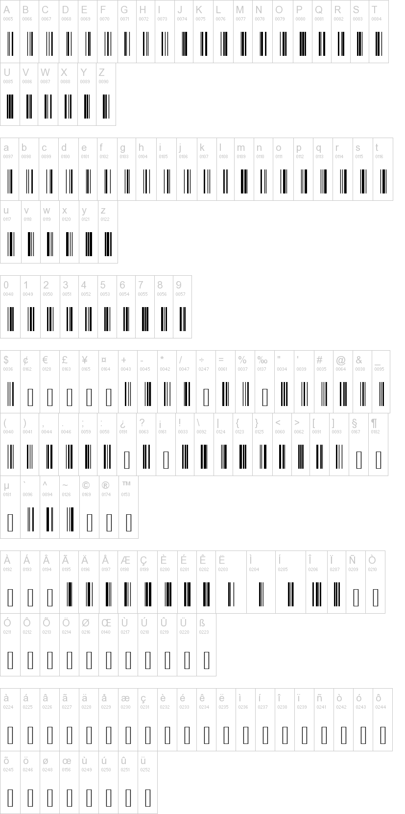 Code 128 Font | dafont com