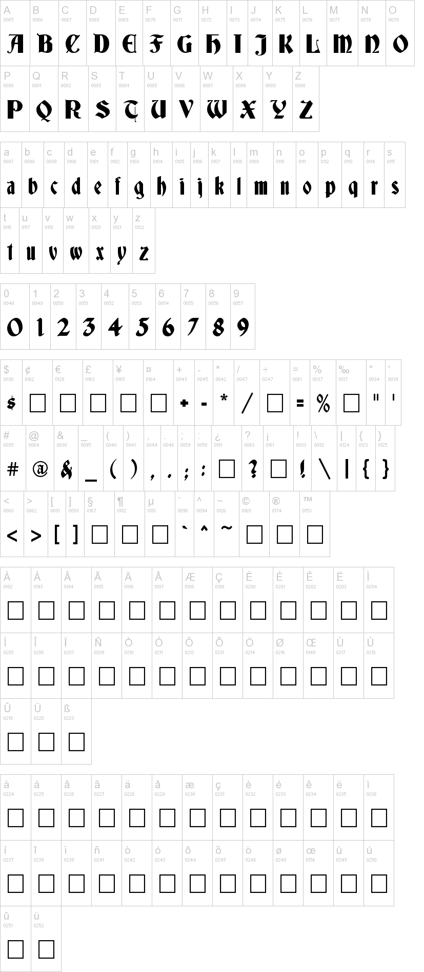 Deutsch Gothic Font | dafont.com