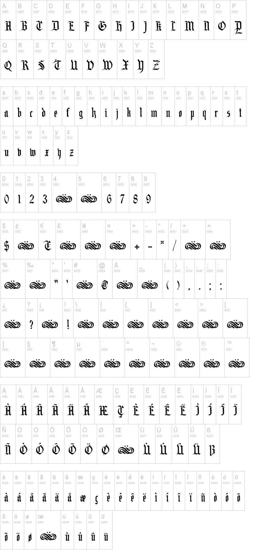 Gothic Font Vk