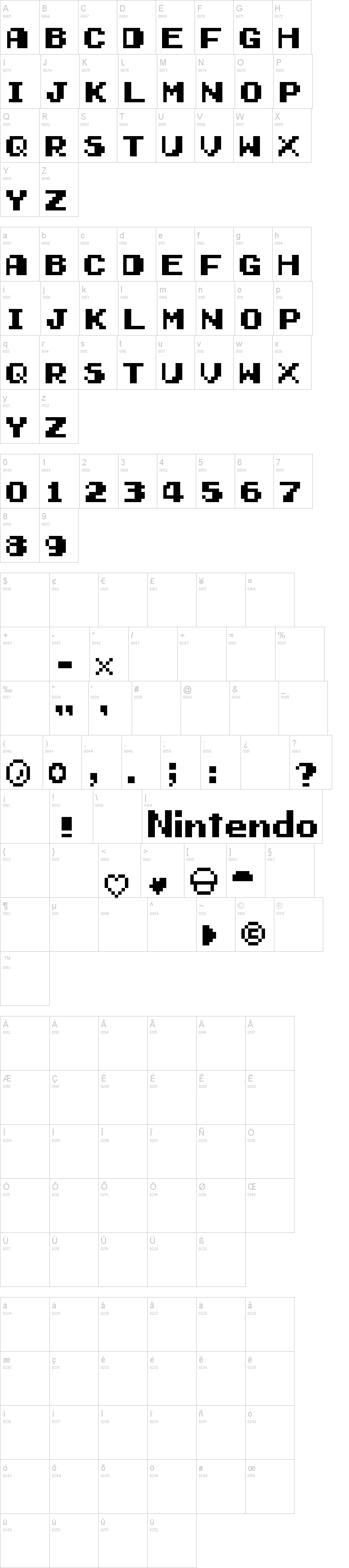 Early Gameboy Font Dafont Com