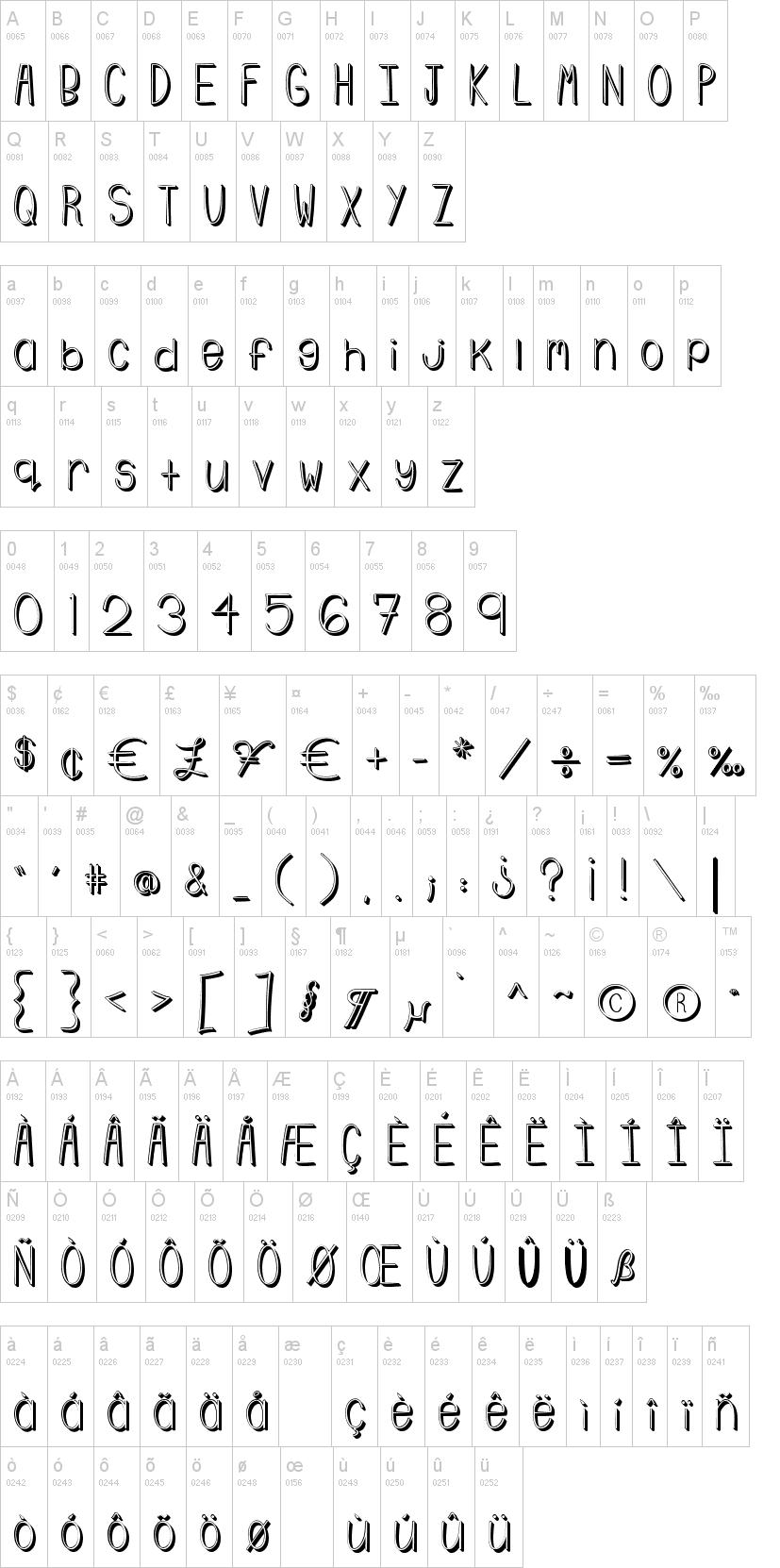 emmy 3d font
