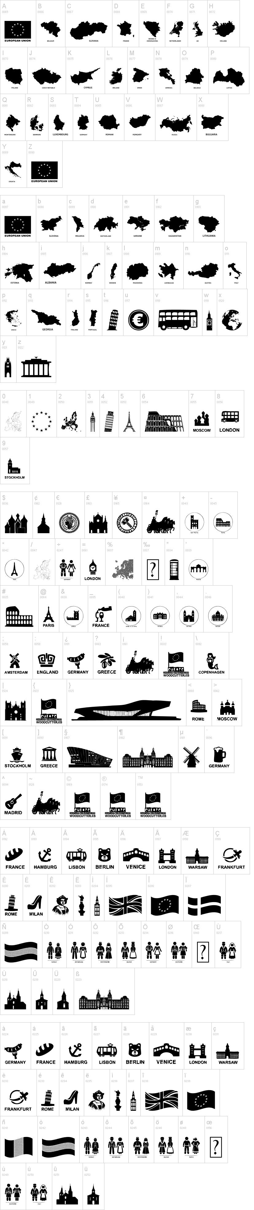 Europe Font | dafont com
