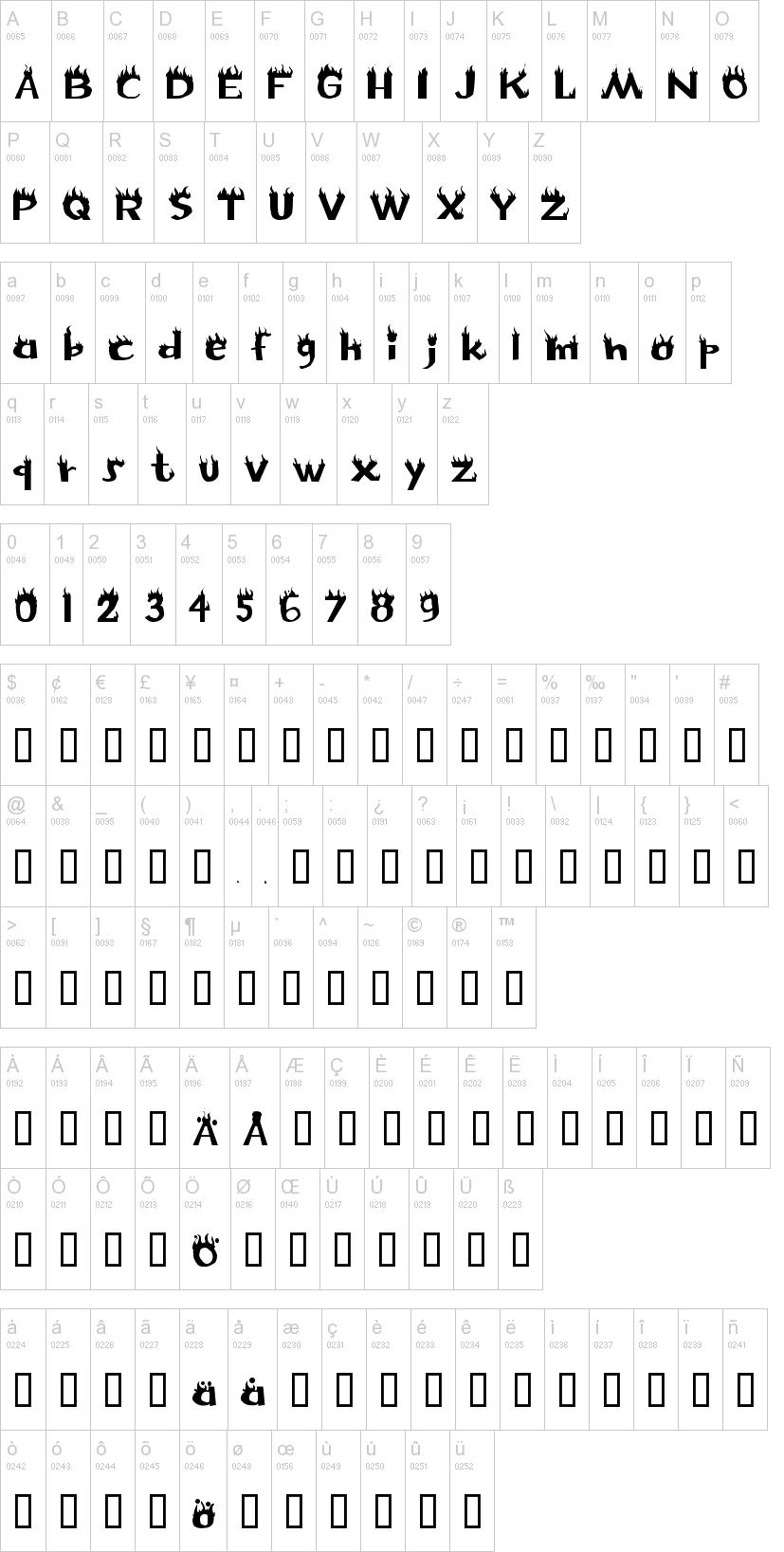 Flame Font | dafont com