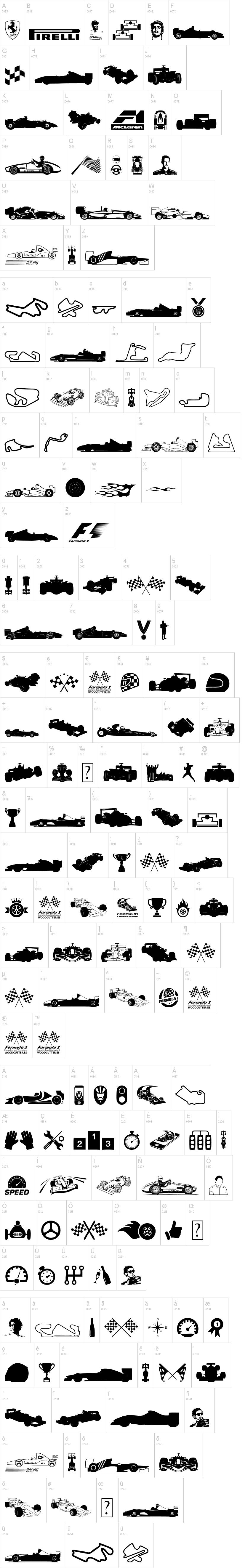 Formula 1 Font | dafont com