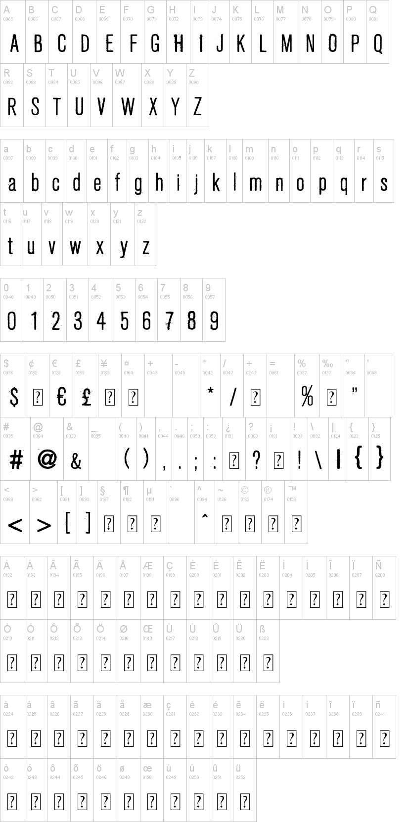 Fresco Stamp Font