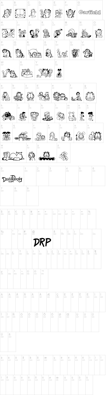 Garfield Hates Mondays Loves Fonts Font Dafont Com