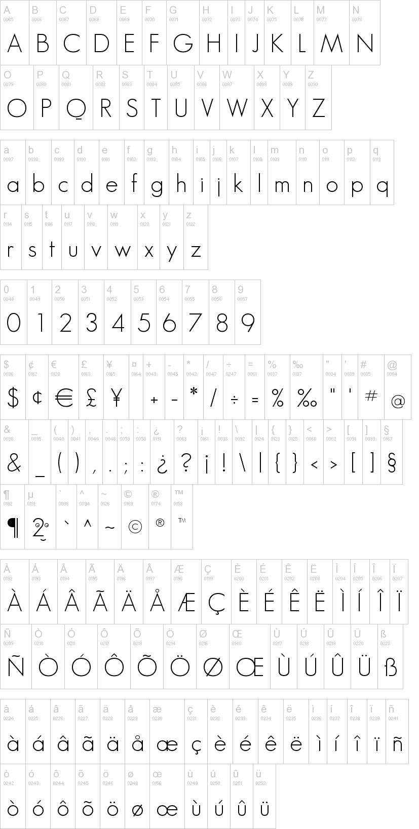 Geo Sans Light Font | dafont com