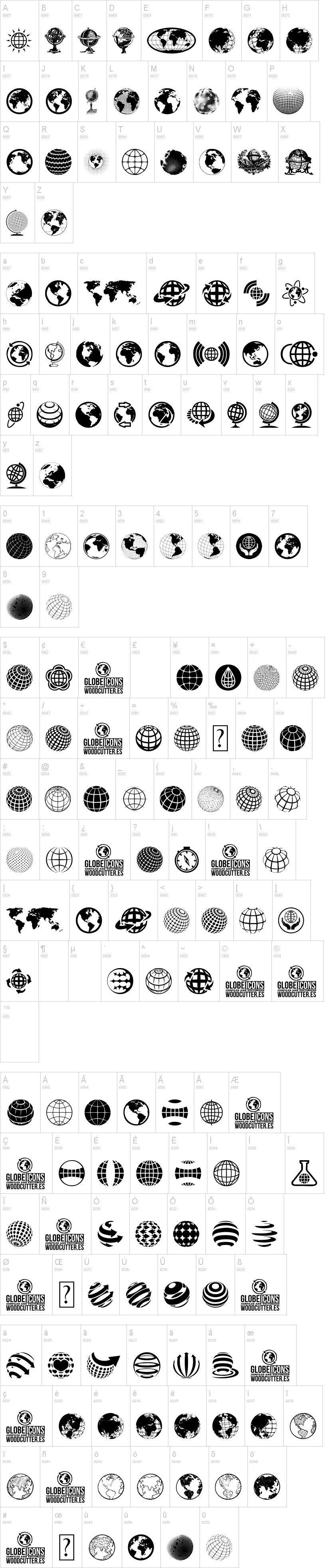 Globe Icons Font | dafont com