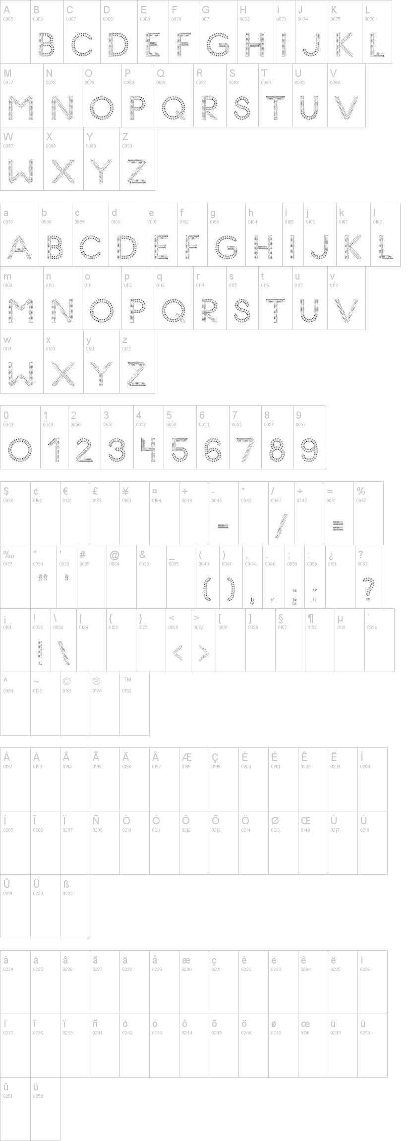 Knitting Font Dafont : Glyph stitch dafont