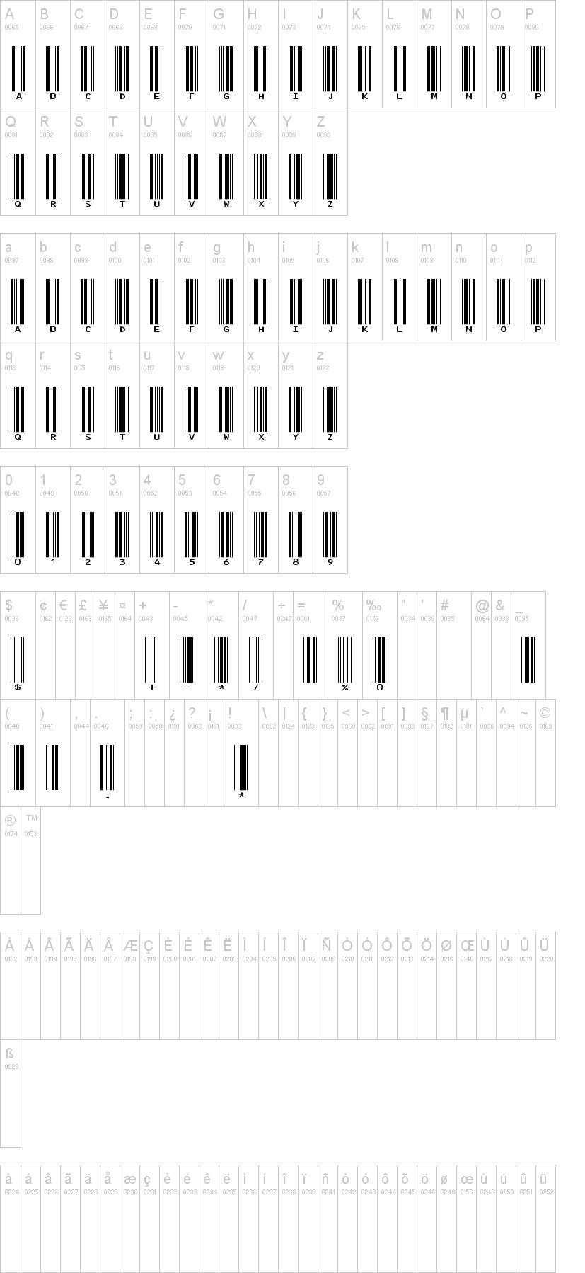 IDAutomationHC39M Font | dafont com